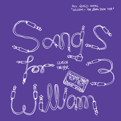 Songs for William 3, front Cover, description: Font made out of guitar cables, white lines on purple background